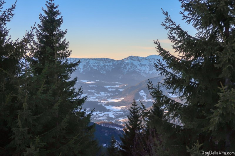 Rossfeld Panoramastrasse Berchtesgaden Winter sunset Travel Blog
