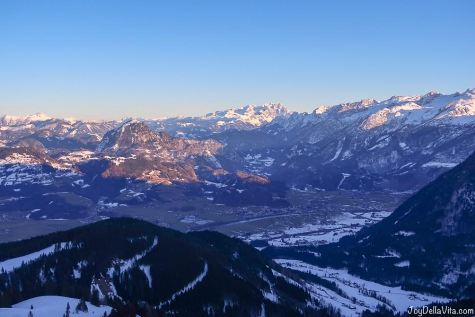 Rossfeld Panoramastrasse Berchtesgaden Winter sunset Travel Blog