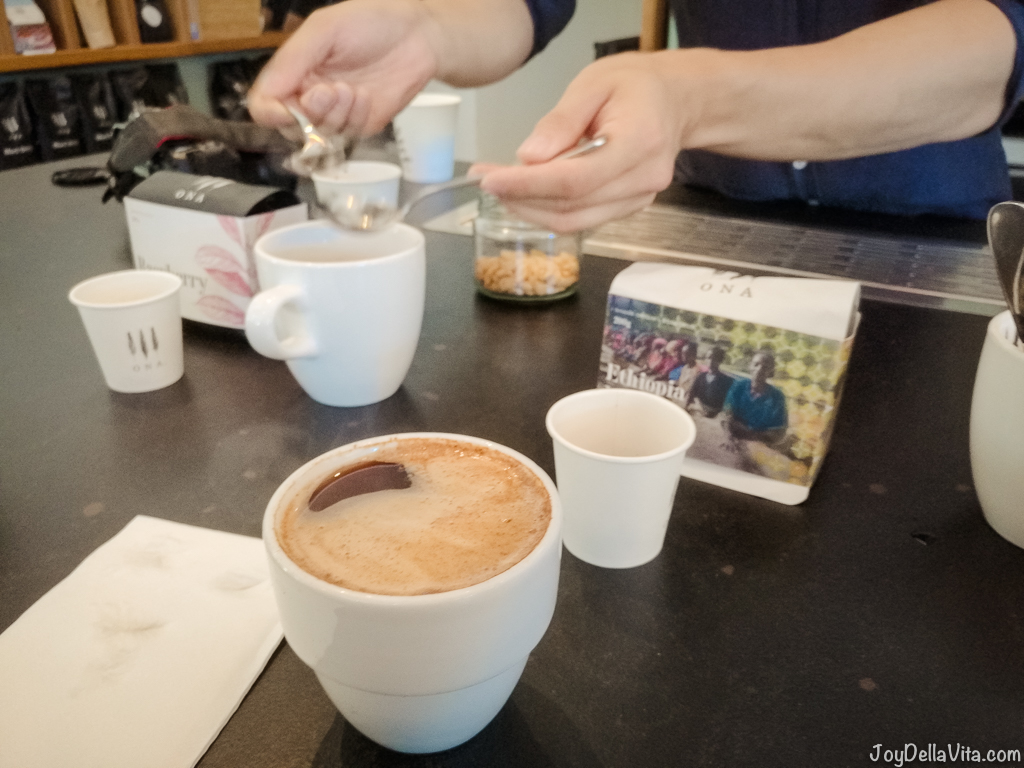 The Cupping Room Canberra Coffee Cupping Session ONA Coffee JoyDellaVita