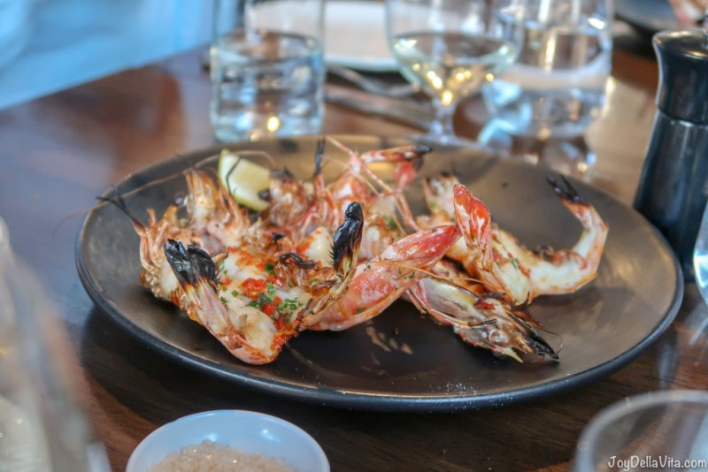 WOOD FIRED GAMBERI King prawns Molto Italian Canberra
