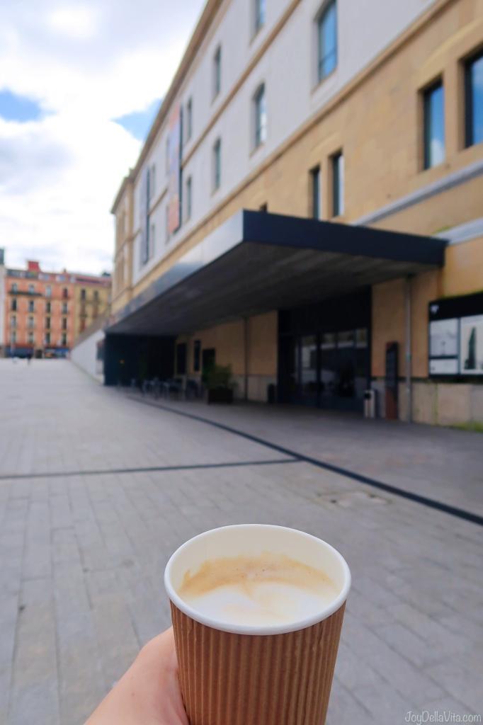 Cappuccino from Taba Café at Tabakalera Art Museum Gallery Exhibition Donostia San Sebastian