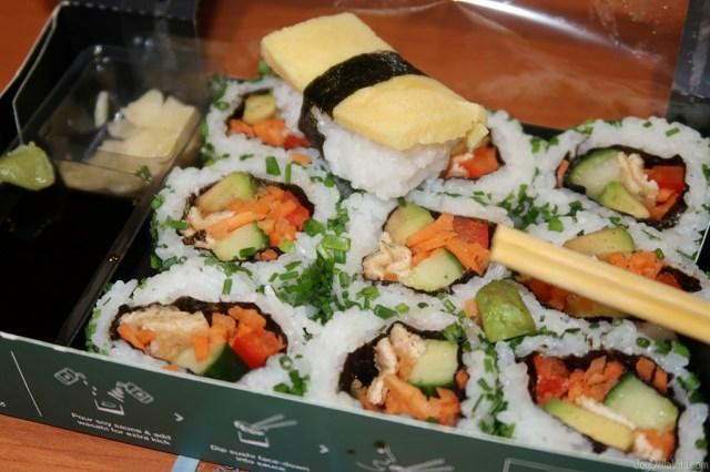 delicious vegetarian sushi dinner by Wasabi UK