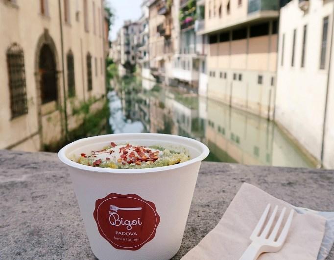 Delicious Bigoli Pasta Pesto Genovese at Bigoi Padua / Padova