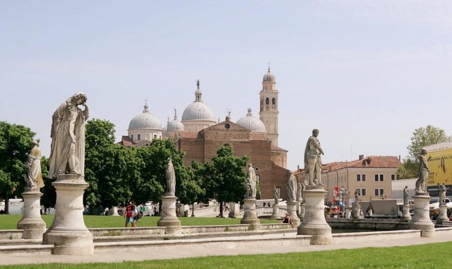 Prato della Valle in Padua – the big square with statues