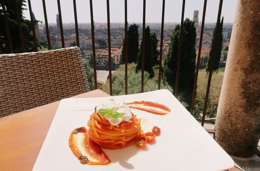 Restaurant with the best view in Verona – Re Teodorico Castel San Pietro