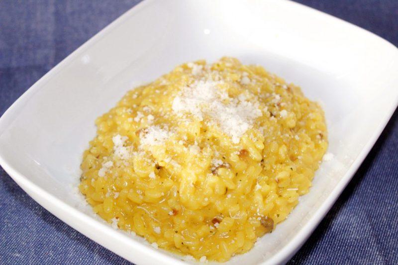 Saffron and mushroom Risotto coop Italy Risotto ai funghi porcini e Zafferano joydellavita