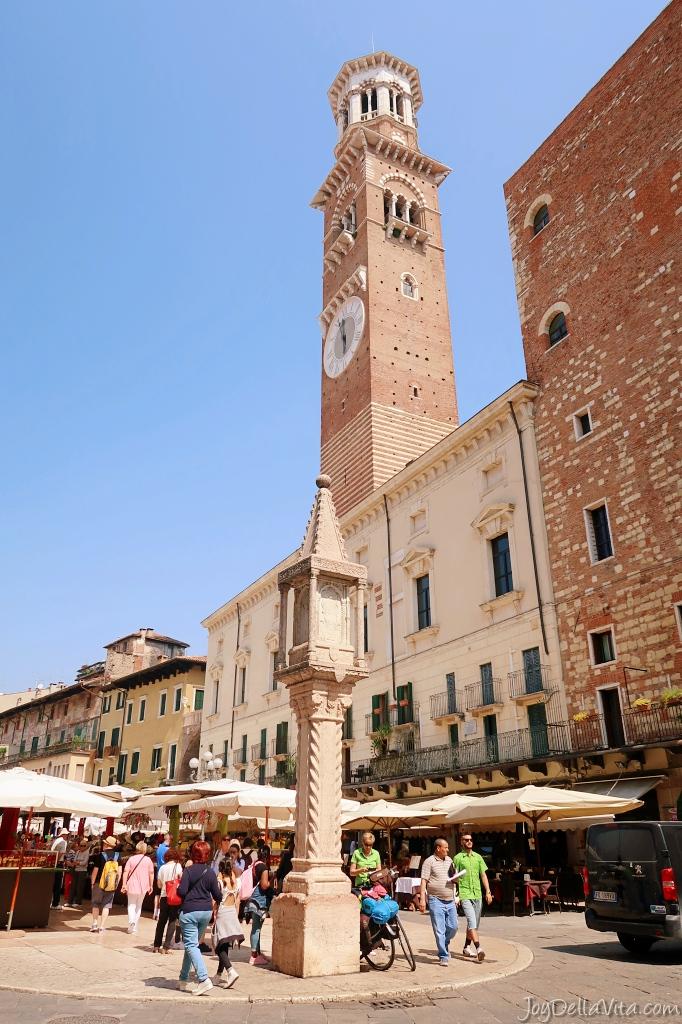 Torre dei Lamberti as seen from Piazza delle Erbe