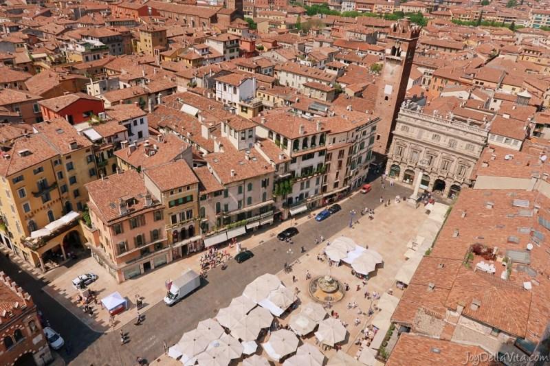 View from Torre dei Lamberti Verona (Piazza delle Erbe)