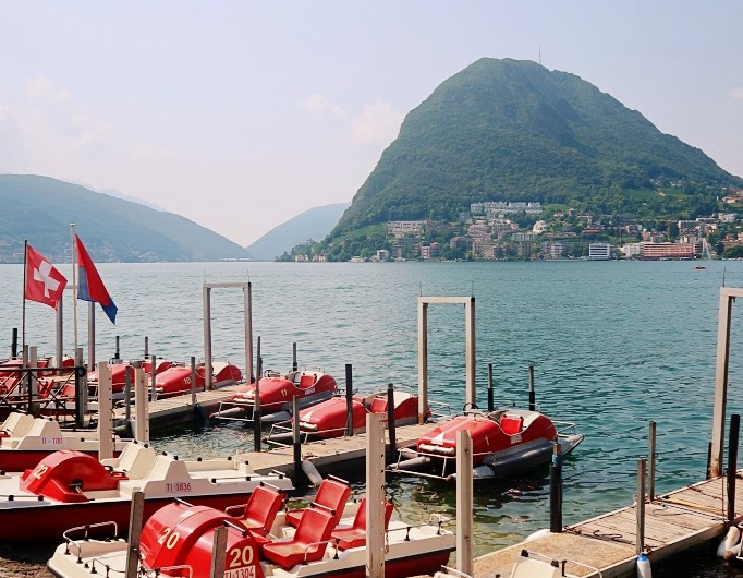 Prices to rent a pedalo boat in Lugano – What's the price of a motor boat on Lake Lugano
