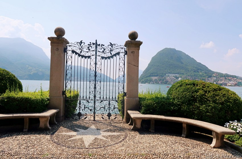 Relaxing in Parco Ciani right by the Lake in Lugano