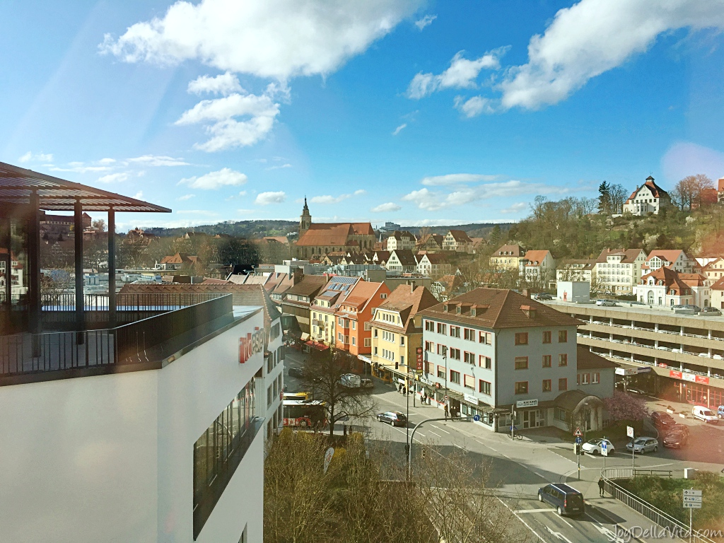 hotel room with a view - ibis styles Tübingen