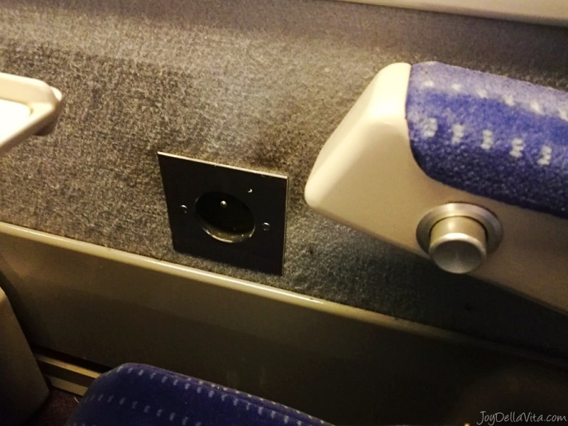 power outlet in the TGV 2nd class
