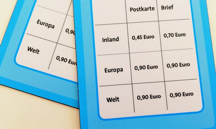 Costs to send a postcard from Germany to your home country