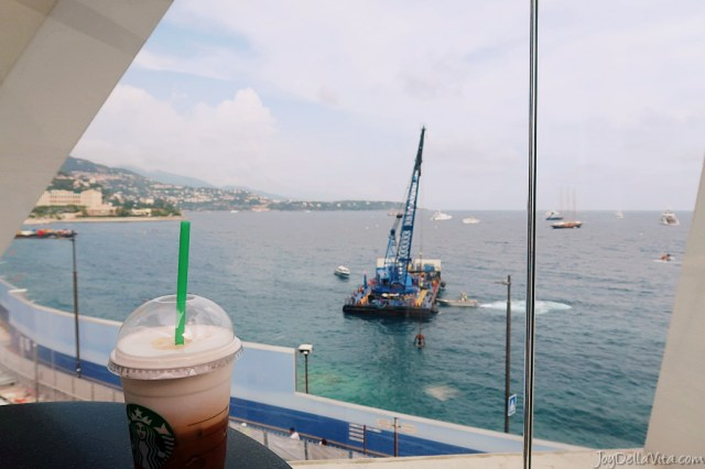 Starbucks with a view in Monaco