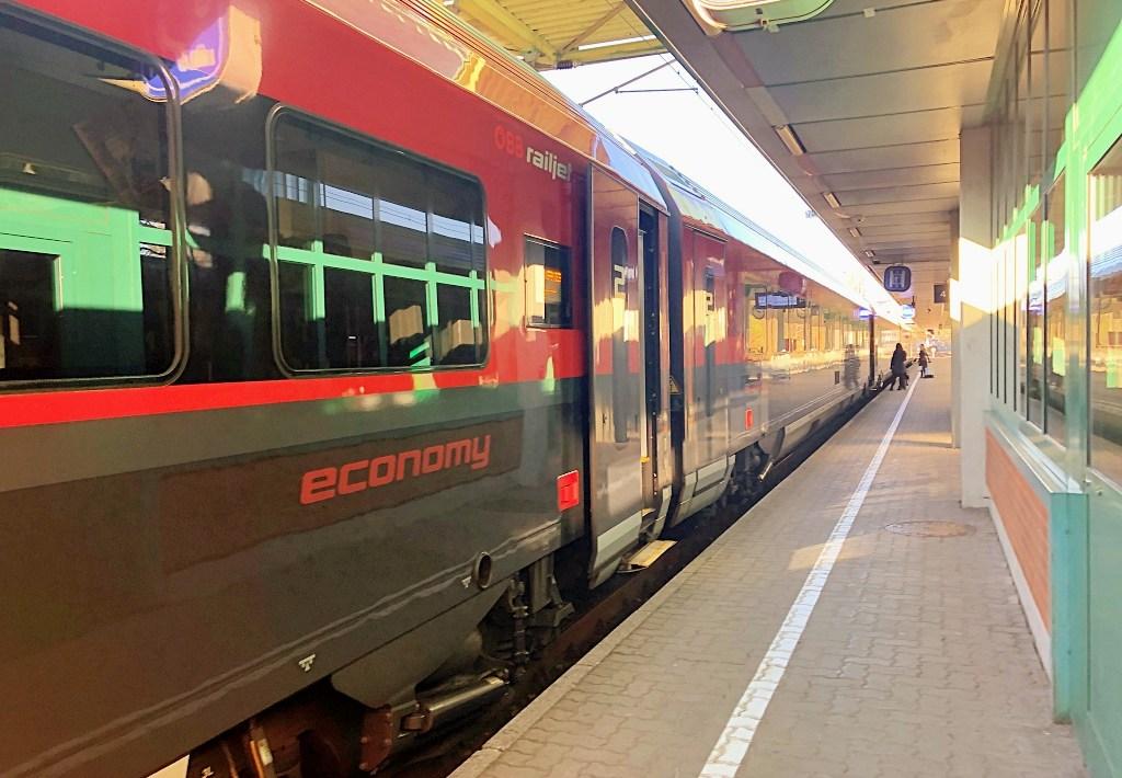 OEBB RailJet 2nd class economy Austria Bregenz Innsbruck Vorarlberg Tyrol