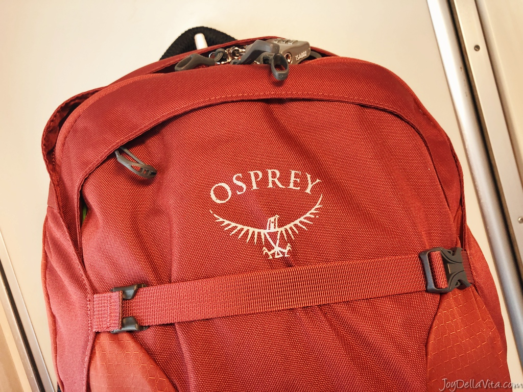 Osprey Farpoint 40 travel backpack travelblog joydellavita