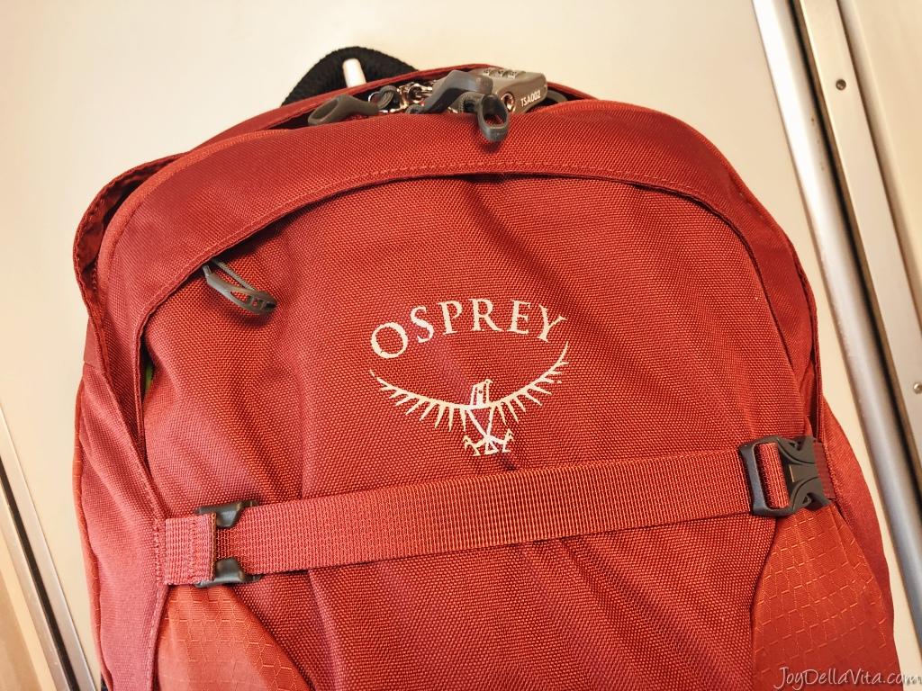 Osprey Farpoint 40 travel backpack travelblog joydellavita