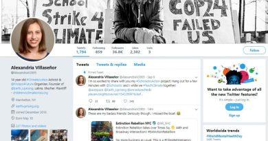 Alexandria Villaseñor Twitter