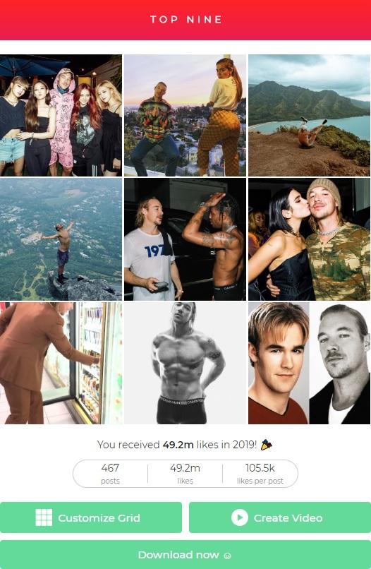 Instagram Top 9 by diplo