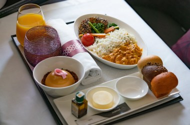 Vegan Qatar Airways on board menu blog joydellavita