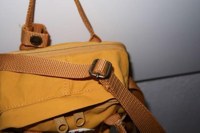 adjustable strap fjallraven kanken sling review ochre brown yellow blog joydellavita