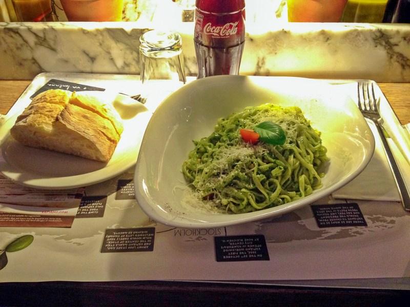 Pasta Pesto Basilico at Vapiano London Bankside Blog JoyDellaVita