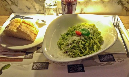 Pasta Pesto Basilico at Vapiano London Bankside Blog JoyDellaVita