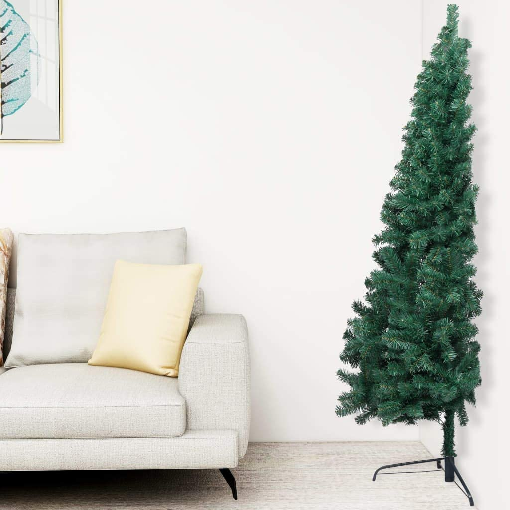 Half Christmas tree for full Christmas feeling in small rooms and spaces