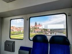 Train view Meissen Albrechtsburg
