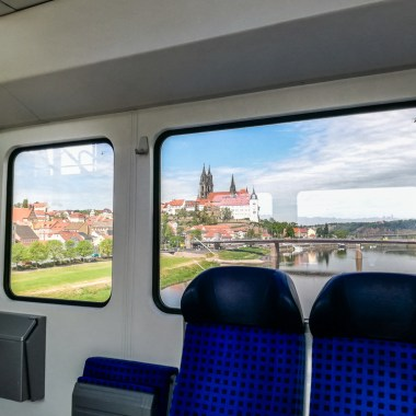 Train view Meissen Albrechtsburg