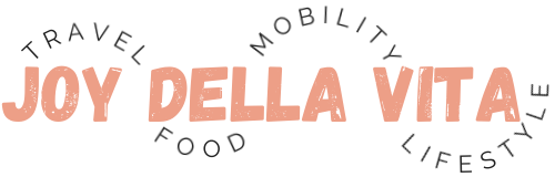 Joy Della Vita Travel Food Mobility Lifestyle Blog Logo