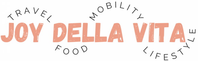 JoyDellaVita Logo Blog Joy Della Vita Travel Food Mobility Lifestyle