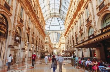 Inside Galleria Vittorio Emanuele II Milan