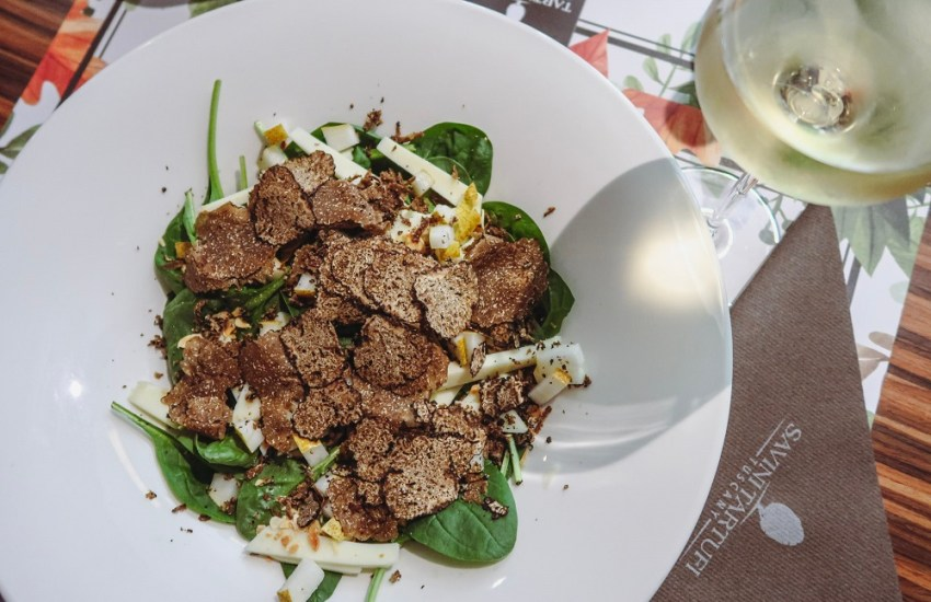 Vegetarian lunch with truffle in Milan travel blog joydellavita