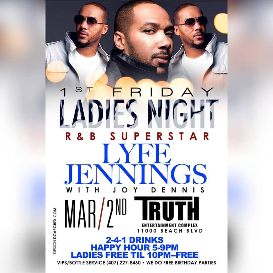 JAX SHOWS: (March 2) Lyfe Jennings @ Truth