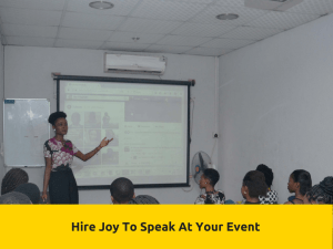 Hire Joy To Speak At Your Event