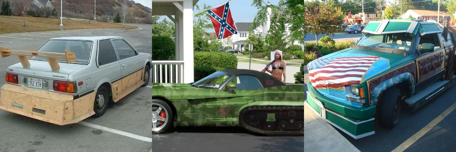 40 Crazy Rip-Roaring Rooting-Tooting Redneck Cars