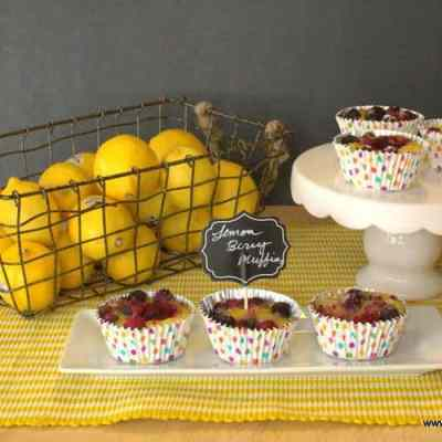 Lemon Muffins with Berries