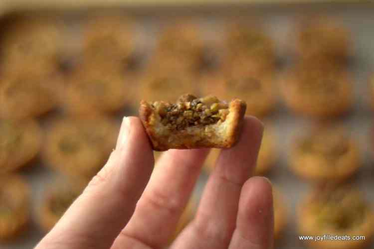 These Baklava Cookies capture the flavors of baklava in a tiny bite. With walnuts, pistachios, cinnamon, and a sugar free glaze scented with lemon zest they will be the perfect substitute to the traditional sugar laden pastry.