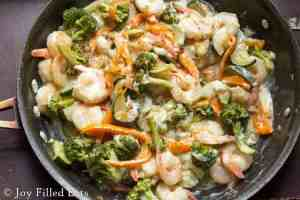 Creamy Shrimp Primavera