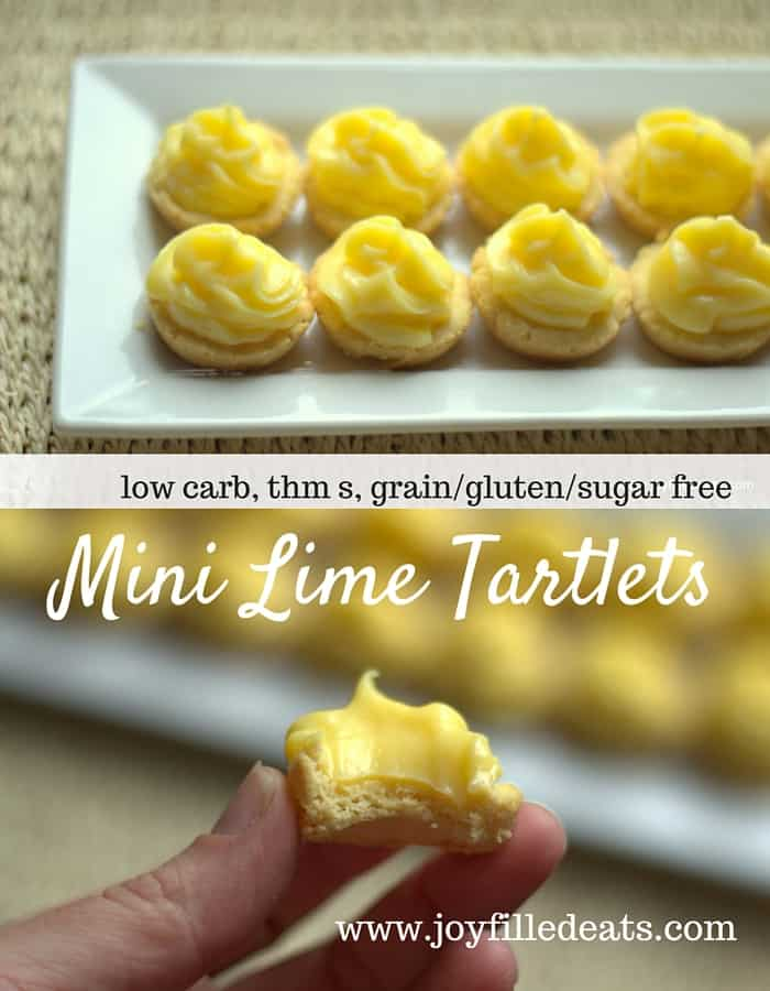 Mini Lime Tartlets - Low Carb, Grain-Gluten-Sugar Free, THM S