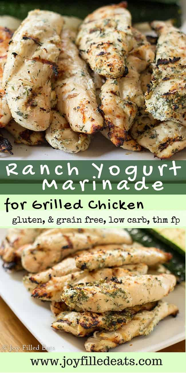 Ranch Yogurt Marinade - This is one of our favorite marinades for grilled chicken. It has so much flavor. My Ranch Yogurt Marinade is low carb, grain-gluten free, & THM FP.