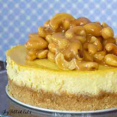 Salted Caramel Cashew Cheesecake