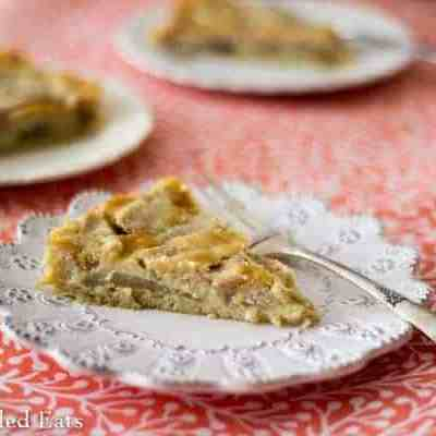 Pear Vanilla Custard Pie – Low Carb, Gluten-Free