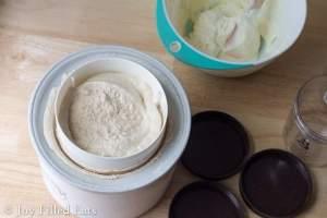 Cinnamon Roll Ice Cream with a Cream Cheese Icing Swirl - Low Carb, Sugar/Grain/Gluten Free, THM S