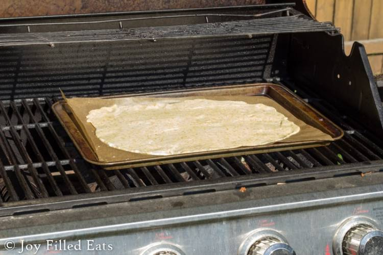 How to Grill Low Carb Fathead Pizza Dough - you can grill any mozzarella based dough this summer with my easy instructions!