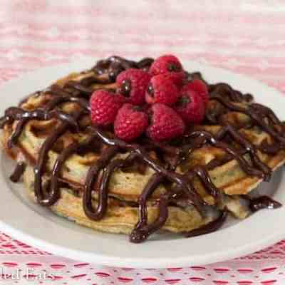 Chocolate Covered Raspberry Waffles