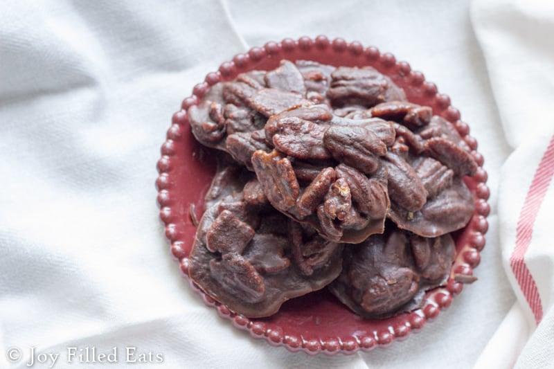 Chocolate Pecan Pralines - Sugar Free, Low Carb, THM S