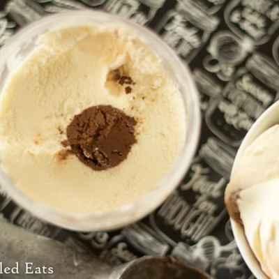 Vanilla Ice Cream with a Chocolate Truffle Core