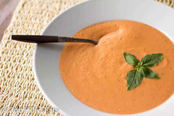 Fresh Tomato & Basil Soup